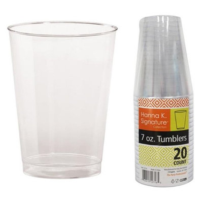 Hanna K Signature 2184826 7 oz Clear Tumbler Heavyweight - Pack of 25