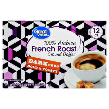 Wal-mart Stores, Inc. Great Value French Roast Ground Coffee Single Serve Cups, Dark Roasted, 12-0.34 oz