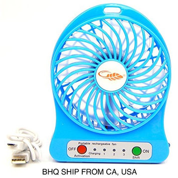USB Mini Fan Air Conditioning Blower for Eyelash Extension - Blue