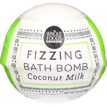 Whole Foods Market, Coconut Milk Fizzing Bath Bomb, 2.3 oz
