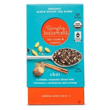 Chai Organic Black Spiced Tea Blend - 20ct - Simply Balanced™