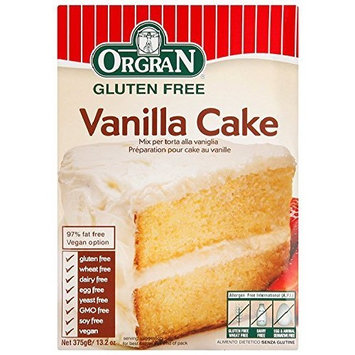 OrgraN Vanilla Cake Mix, 13.2-Ounce Boxes (Pack of 8)