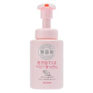 Miyoshi Soap   Baby Body Shampoo   Additive Free Bubble Baby Soap Pump 250ml