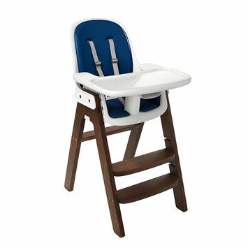 OXO Tot Sprout Chair with Tray Cover, Taupe/Walnut [Navy/Walnut]