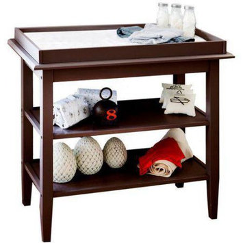 Lolly & Me Lolly and Me Universal Open Shelf Changing Table, Espresso
