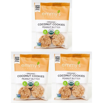 Emmy's Organics Peanut Butter Coconut Cookies (2 Oz. (Pack of 3))