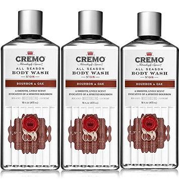 Cremo All Season Body Wash, Bourbon & Oak, 16 Ounce (Pack of 3)