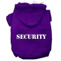 Mirage Pet Products Security Screen Print Pet Hoodies Purple Size w/ Cream Size text XXXL (20)