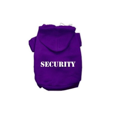 Mirage Pet Products Security Screen Print Pet Hoodies Purple Size w/ Cream Size text XXXL (20)