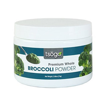 Tsogo Premium Broccoli Powder, 74g, 48 Total Servings, Green Smoothies - No Added Flavors, Fillers or Sugars
