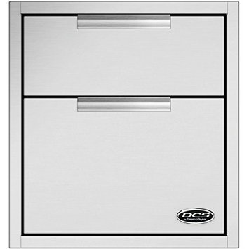 DCS TDD120 20 Stainless Steel Built-In Double Storage Drawer