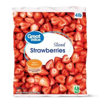 Great Value Sliced Strawberries, 64 oz