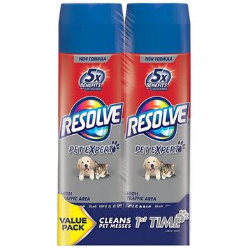 Resolve Pet High Traffic Carpet Foam Dual Pack, 44 oz (2 Cans x 22 oz) (Pack of 2)