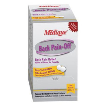 Medique Back Pain-Off Pain Reliever Tablets 500 Per Box by Medique - MS71295