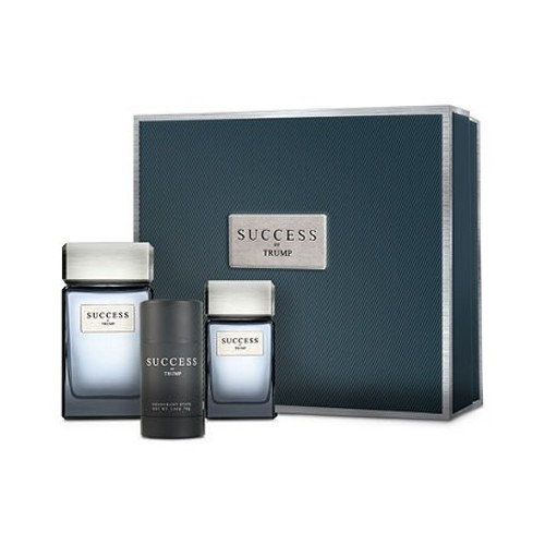 SUCCESS by TRUMP 3 PIECE Gift Set for Men (3.4 FL OZ EDT Spray, 1 FL OZ EDT SPRAY and 2.5 OZ Deodorant Stick)