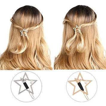 Unicra Hair Clip for Women - 8 Pcs Hair Clips for Girls Hair Styling Valentine's Day Present (Gold and Silver)