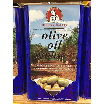 The brand used in fine restaurants! Imported from Italy: Chef's Quality Olive Oil Pomace 1 gallon