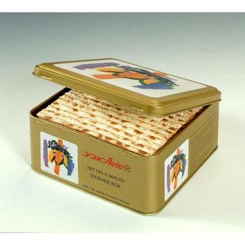 Aviv Art on a Matzo Tin Gift box 1 Pound (Kadishman design)