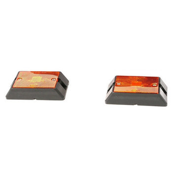 Maxxhaul Towing Products MaxxHaul 80745 Side Marker LED Amber Light - 2 Pack