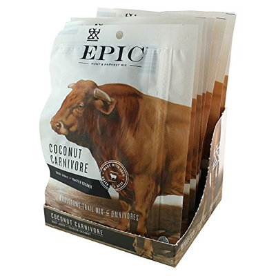 Epic Provisions 100% Grass Fed, Beef Jerky, Coconut Carnivore Mix, 2.25 ounce, 8 Count [Coconut Carnivore]