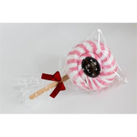 Couture Towel CT-PASL001201 12 x 11 in. Very Berry Swirl Lollipop Towel Pink Daisy - Set of 2