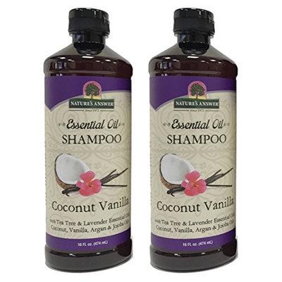 Nature's Answer Essential Oil Shampoo, Coconut Vanilla, 2 Count