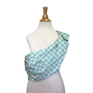 Morocco Adjustable Baby Sling Carrier Wrap by The Peanut Shell - Aqua Medallion