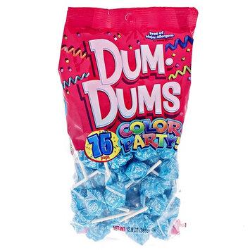 Ocean Blue Dum Dums Color Party - Cotton Candy Flavored - 4 Bags - 75 Count Per Bag - 300 Total Lollipops - Includes Free