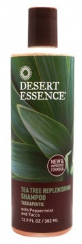 Desert Essence Tea Tree Replenishing Shampoo with Peppermint and Yucca 12.9 fl oz(pack of 3)