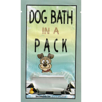 DOG BATH IN A PACK - Largest Bath and Grooming Dog Wipes - Individual Packs *NEW* Perfect for Travel or When on the GO