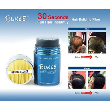 BUNEE 12 Gram Hair Fiber Instantly Thicken Hair Building Fiber