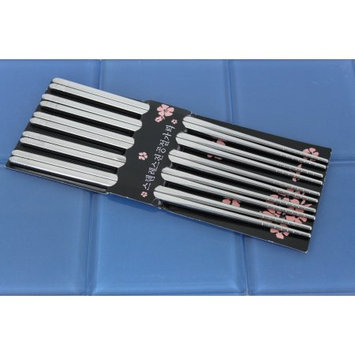 Golden Coulee TEMO 10 pc Chopstick Stainless Steel Chopsticks 5 Pairs smooth
