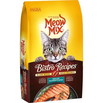 Meow Mix Bistro Recipes Grilled Salmon Dry Cat Food - 12 lb