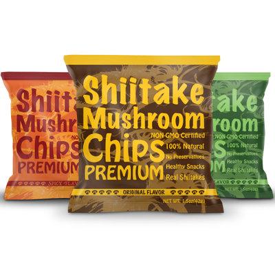 R.i.t. Co. Inc Yuguo Farms Shiitake Mushroom Chips, Variety Pack