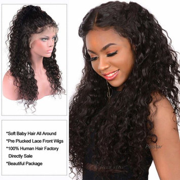 Brazilian Human Hair Lace Front Wigs with Baby Hair Pre Plucked Human Hair Wigs For Black Women Wet and Wavy Water Wave Curly Lace Front Wigs 13x4 Lace Frontal Wigs 10 inch