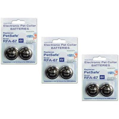 High Tech Pet PetSafe Compatible RFA-67 6-Volt Replacement Battery (6-Pack)