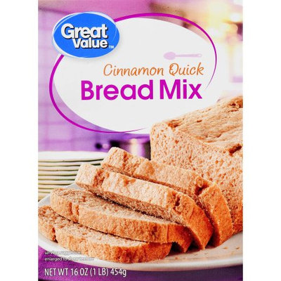Great Value Cinnamon Quick Bread Mix, 16 oz