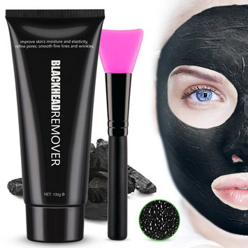 Black Mask Charcoal Mask Peel Off Mask Blackhead Remover Mask , Deep Pore Cleansing Mask with Mask Brush 100g