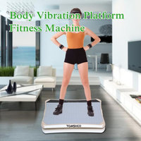 TOMSHOO Multifunctional Touch Button LED Body Fitness Vibration Platform Plate Body Shaper Massage Machine