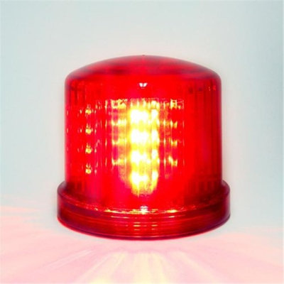 Fortune Products Fortune PL-300RJ Battery Powered Ultra Bright LED Standard Police Beacon, 5 Diameter x 5 Height, R
