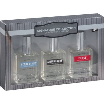 Parfums De Coeur Ltd Designer Imposters Signature Collection Men's Gift Set, F/ACQ/AC, 3 pc