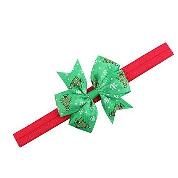 Creazy Christmas Headwear Girls Infant Hair Band Bow Headbands Flower Hair Accessories