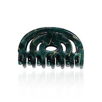 CHIMERA Women's Hair Claw Semi-circular Cellulose Acetate Jaw Hair Clips Medium Size Clamp Chic Hair Jewelry Dark Green