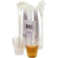 KegWorks Disposable 2 oz. Clear Plastic Shot Cups Case of 1250