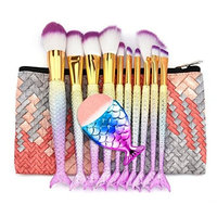 Makeup Brush Set,Putars 11PCS Professional Women Sexy Soft Material Cosmetic Concealer Brush Set for Perfect Application,for Eyebrow Eyeliner, Blush, Foundation, Contour and Blending Multicolor