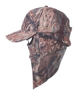 Quikcamo Matthews Lost Camouflage Cap, Camo Hunting Hat with Rear Model Face Mask Technology (61cm Adjustable)