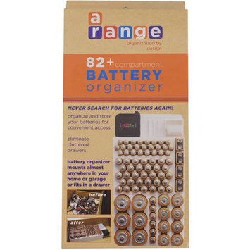 Range Kleen Battery Organizer Storage Case by Holds 82 Batteries Various Sizes WKT4162 Removable Battery Tester []