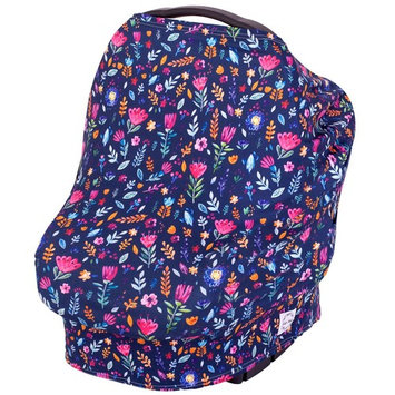 Baby Nursing Cover Carseat Canopy - Breastfeeding Scarf, High Chair, Shopping Cart, Stroller Baby Car Seat Covers for Boys and Girls, Stretchy Multi Use Infinity Scarf Shawl - Kidz Pride Navy Floral