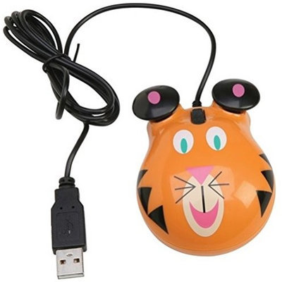 Califone Animal-Themed Computer Mouse, Tiger