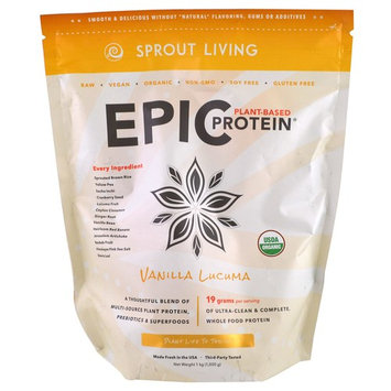 Sprout Living, Epic Plant-Based Protein, Vanilla Lucuma, 2.2 lb (1,000 g) [Flavor : Vanilla Lucuma]